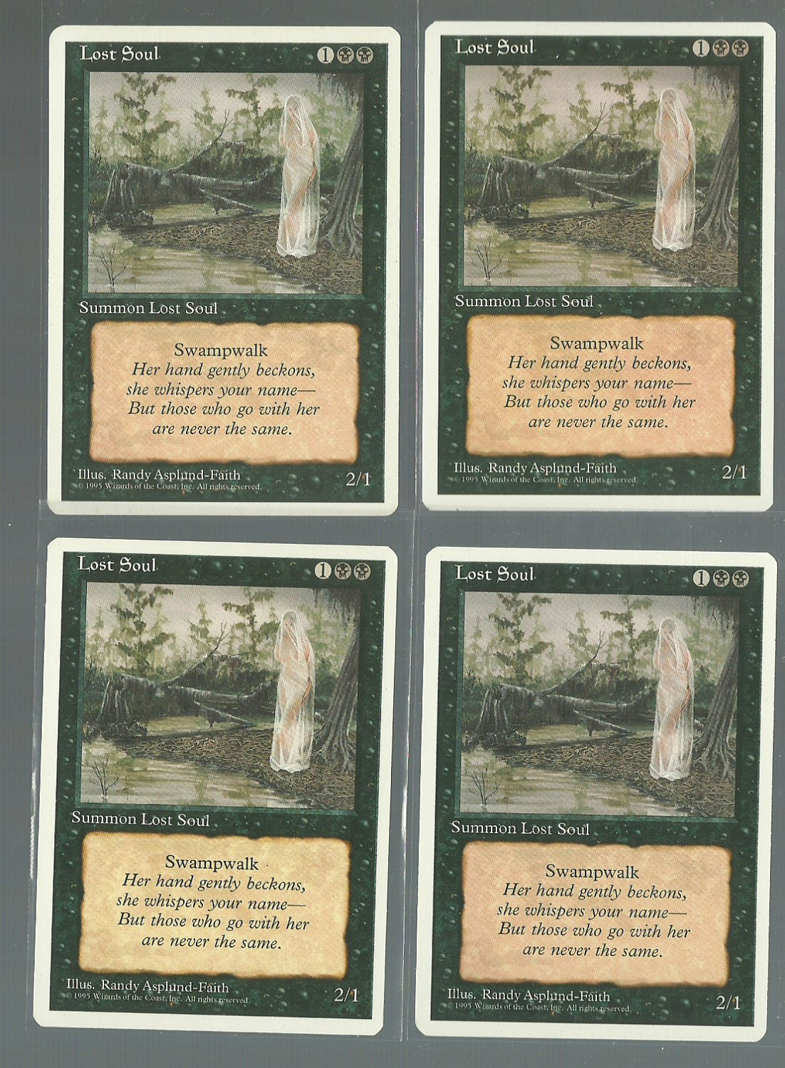 Lost Soul x4 - NM - 4th Edition - Magic the Gathering