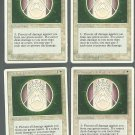 Circle of Protection Green x4 NM 4th Edition