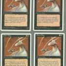Giant Slug x4 NM Chronicles Magic the Gathering
