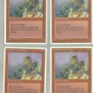Goblins of the Flarg x4 NM Chronicles Magic the Gathering