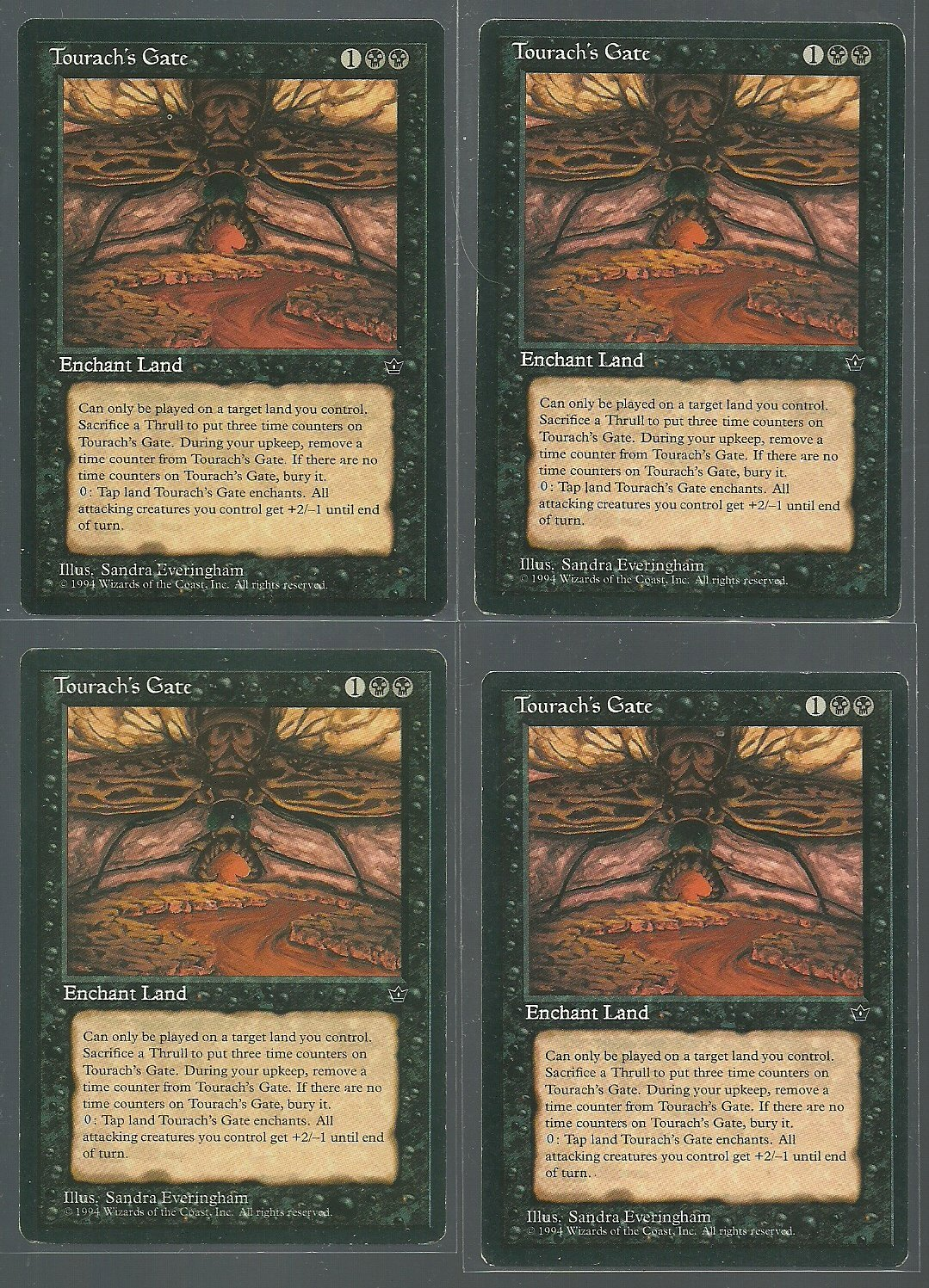 Tourach's Gate x4 Good Fallen Empires Magic the Gathering