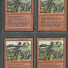 Dwarven Catapult x4 Good Fallen Empires Magic the Gathering