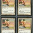Ekundu Griffin x4 - Good - Mirage - Magic the Gathering