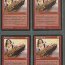 Spitting Earth x4 - NM - Mirage - Magic the Gathering