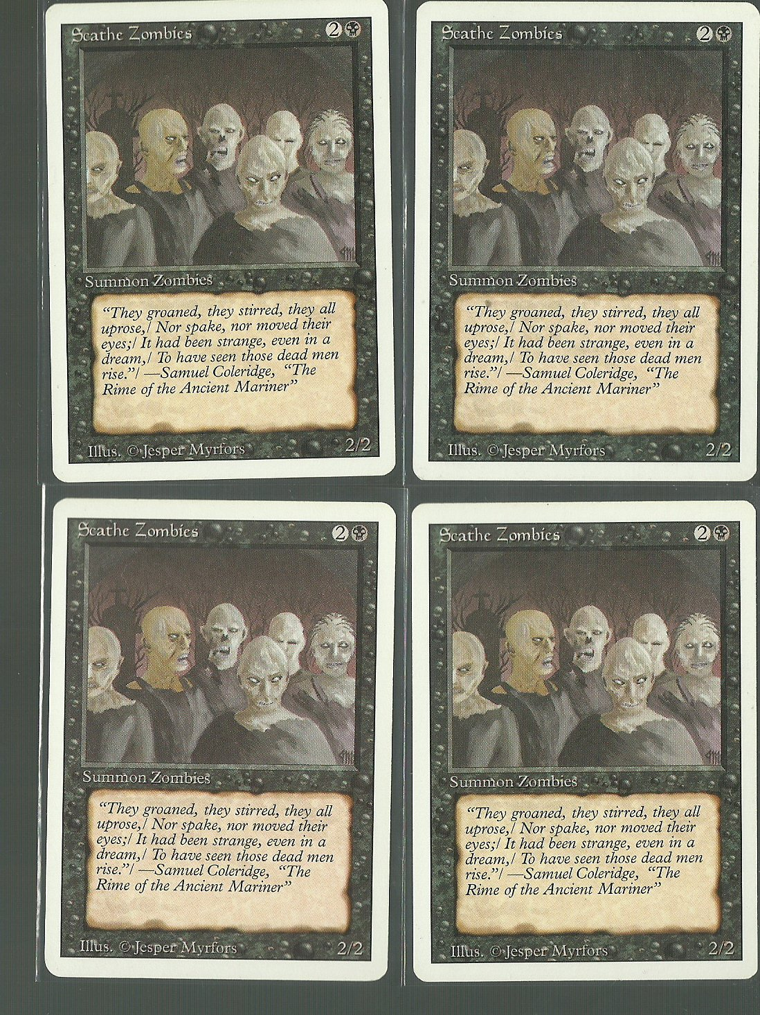 Scathe Zombies x4 - NM - Revised - Magic the Gathering