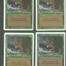 Giant Growth x4 - NM - Revised - Magic the Gathering