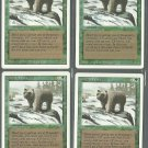 Grizzly Bears x4 - NM - Revised - Magic the Gathering