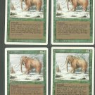 War Mammoth x4 - NM - Revised - Magic the Gathering