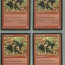 Craven Giant x4 NM Stronghold Magic the Gathering