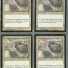 Circle of Protection White x4 NM Tempest Magic the Gathering