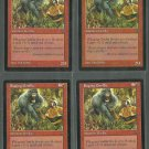 Raging Gorilla x4 NM Visions Magic the Gathering