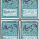 Azure Drake x4 - NM - Chronicles - Magic the Gathering