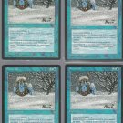 Snowfall x4 - Good - Ice Age - Magic the Gathering