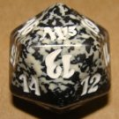 Life Counter Die - NM - Black/Gray/White - Magic 2013 - Magic the Gathering