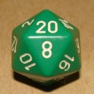 Life Counter Die - NM - Green/White - Generic - Magic the Gathering