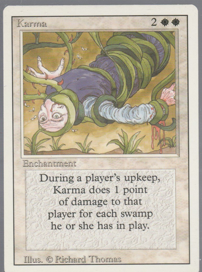 Karma - VG - Revised- Magic the Gathering