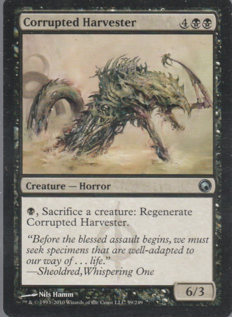 Corrupted Harvester - VG - Scars of Mirrodin - Magic the Gathering