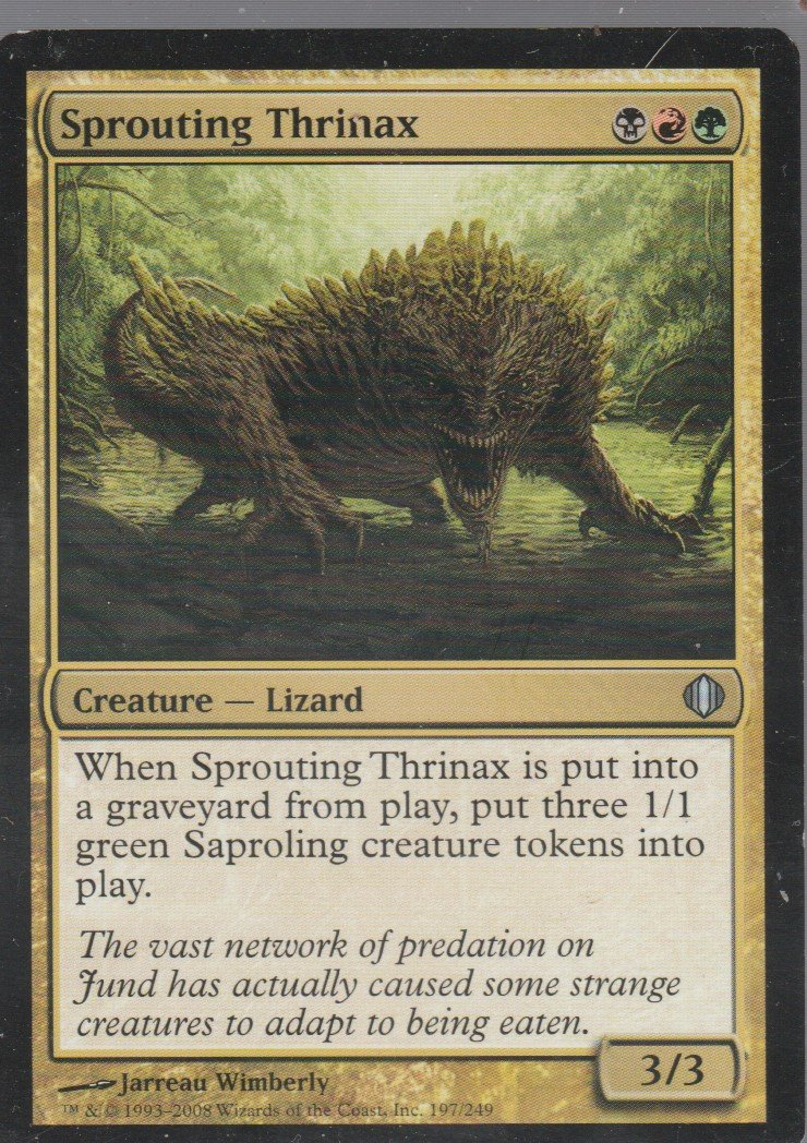Sprouting Thrinax - VG - Shards of Alara - Magic the Gathering