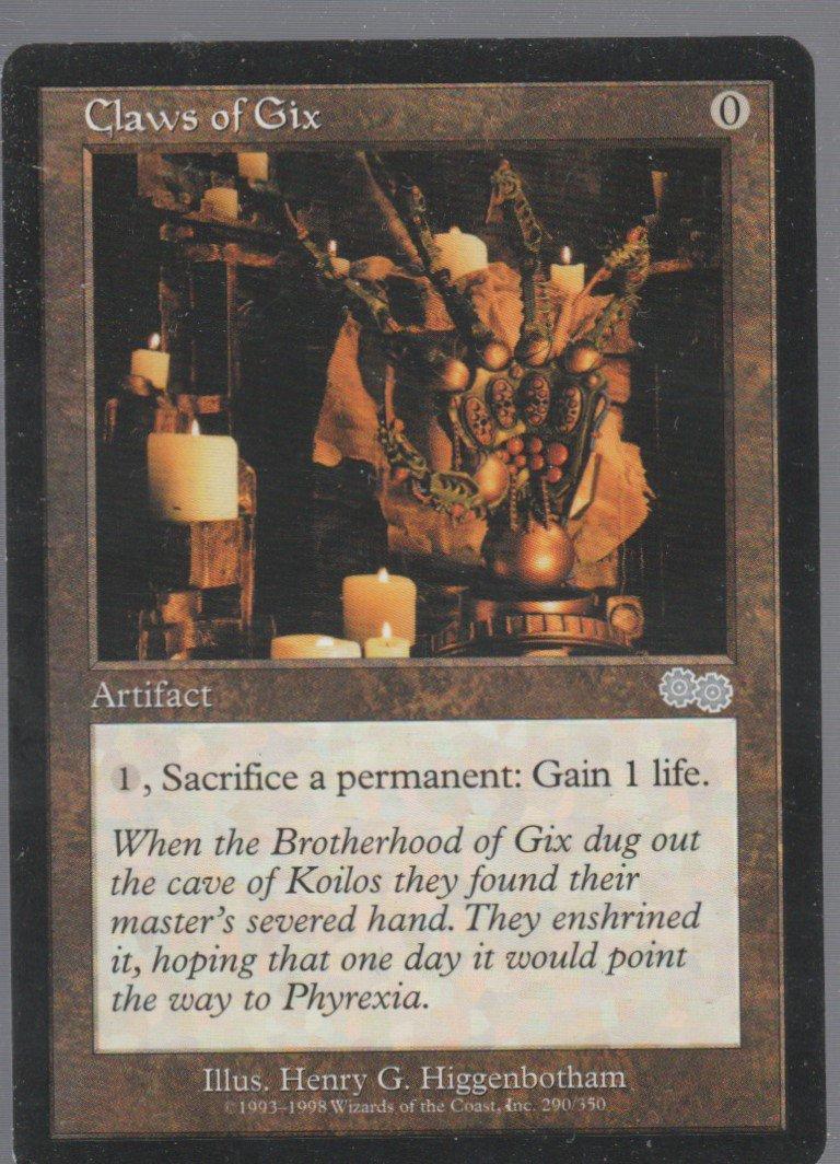 Claws of Gix - NM - Urzas Saga - Magic the Gathering