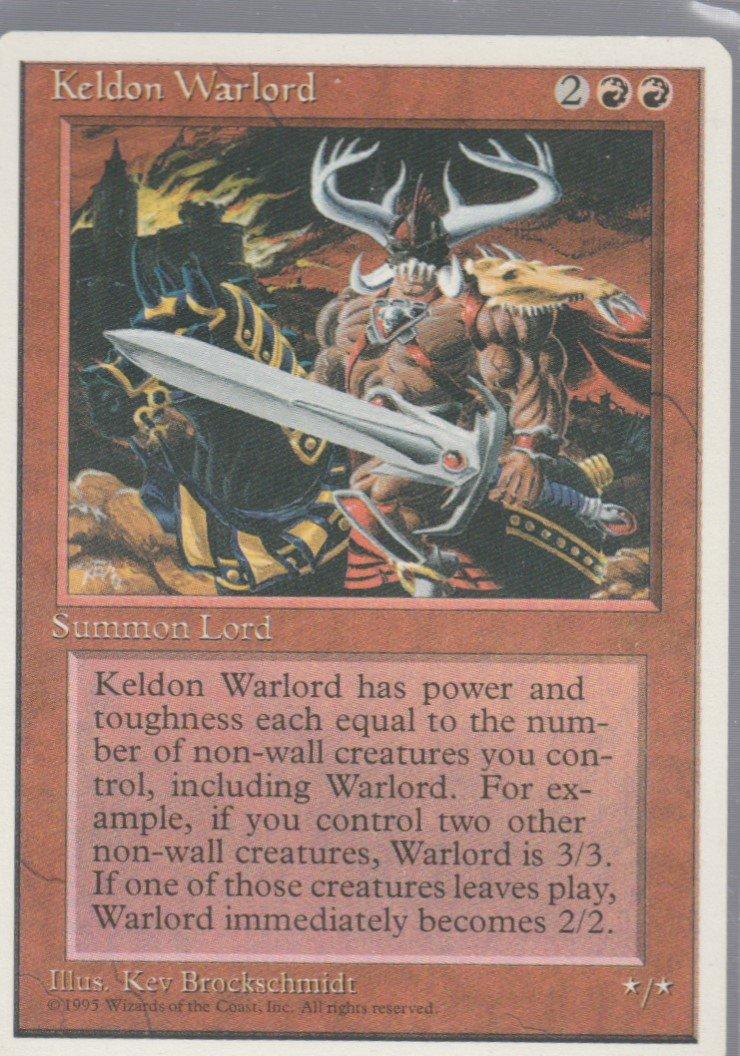 Keldon Warlord - VG - 4th Edition - Magic the Gathering