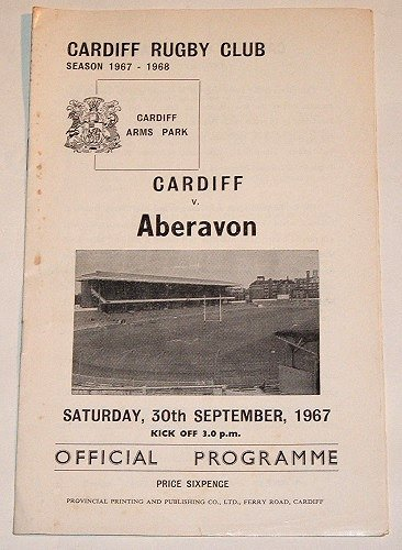 CARDIFF v ABERAVON - 30.SEP.1967 - Rugby Programme