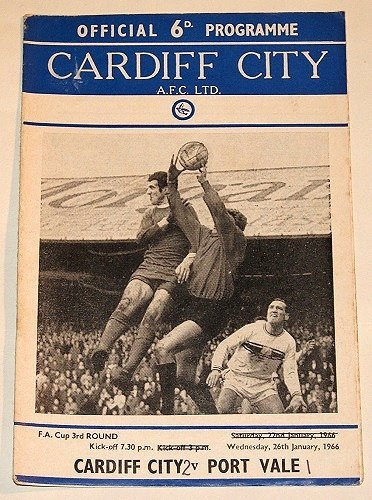 CARDIFF CITY v PORT VALE - 26.JAN.66- Football Programme