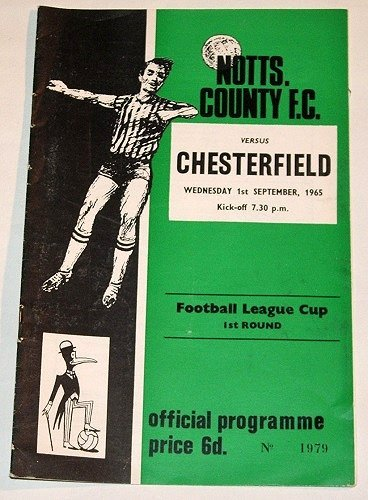 NOTTS COUNTY FC v CHESTERFIELD - 01.SEP.65 - Football Programme