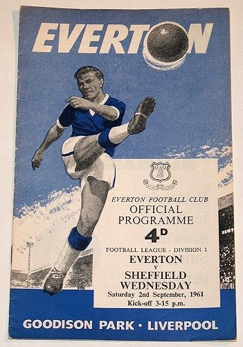 EVERTON v SHEFFIELD WEDNESDAY - 02.SEP.61 - Football Programme