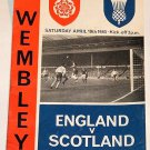 ENGLAND v SCOTLAND - 10.APR.65 - Football Programme