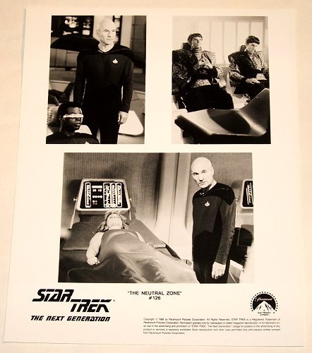 "STAR TREK : NEXT GENERATION : Show 126 ""The Neutral Zone"" publicity photo"