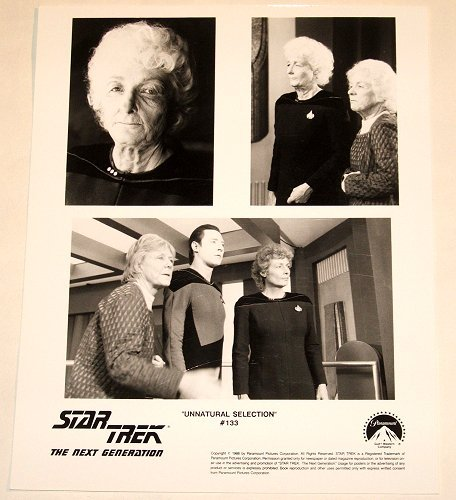 "STAR TREK : NEXT GENERATION : Show 133 ""Unnatural Selection"" publicity items"