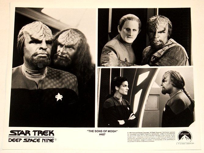 """STAR TREK : DEEP SPACE NINE : Show 487 """"The Sons Of Mogh"""" 2x publicity photos"""