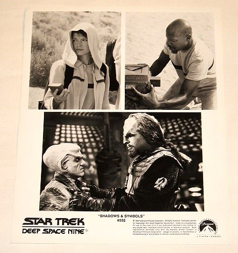 "STAR TREK : DEEP SPACE NINE : Show 552 ""Shadows & Symbols"" publicity photo"