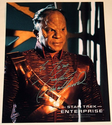 STAR TREK Tucker Smallwood signed picture as a Zindi Primate from Star Trek Enterprise