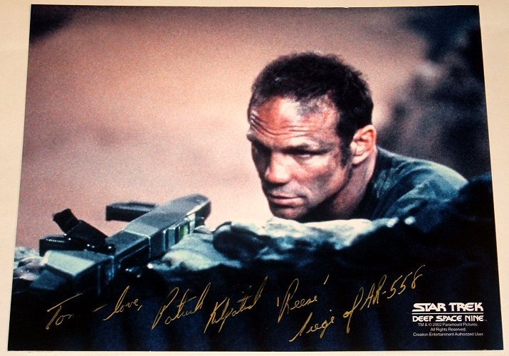 STAR TREK Patrick Kilpatrick - Signed picture as Reese from Star Trek Deep Space Nine
