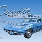 JBURTPHOTOS Original 8x10 Photographic Print - 1965 Corvette Stingray Car Automobile