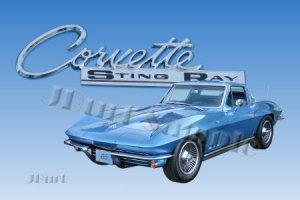 JBURTPHOTOS Original 8x10 Photographic Print - 1965 Corvette Stingray Car Automobile