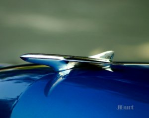 JBURTPHOTOS Original 8x10 Photographic Print of a 1952 Ford Car Hood Ornament