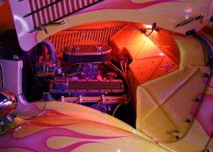 JBURTPHOTOS Original 8x10 Photographic Print 36 Ford Coupe Engine