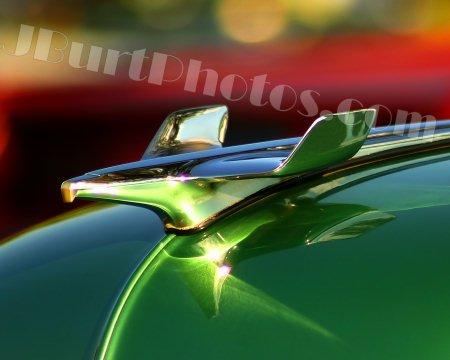 JBURTPHOTOS Original 8x10 PRINT of an Eagle Bird Hood Ornament on a 54 Chevy Car