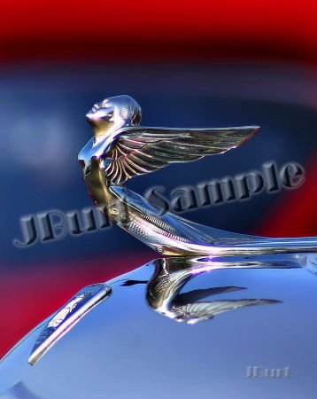 JBURTPHOTOS Original 8x10 Print 1933 Plymouth Winged Goddess Car Hood Ornament