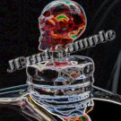 JBURTPHOTOS Original 8x10 Print - Neon Skull Car Hood Ornament
