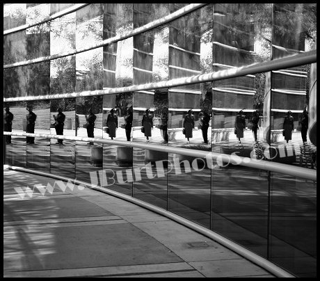 JBURTPHOTOS Original 8x10 B&W Photographic Print Fresno City Hall Reflections