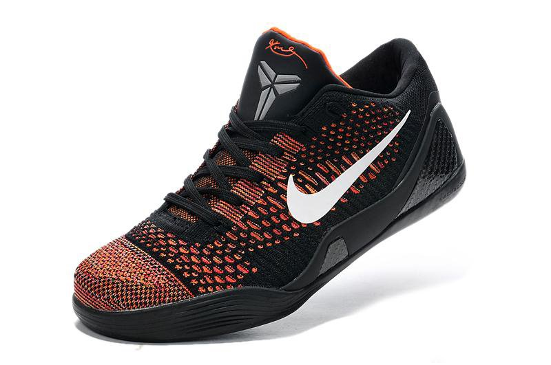 639045 418 Nike Kobe 9 Elite Low Black Varisty Red White Basketball Shoes