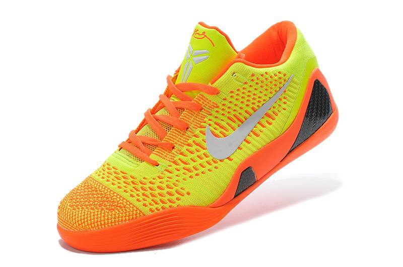 Nike Kobe 9 Elite Low Orange Yellow White Mens Basketball Shoes