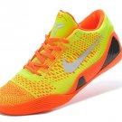 Nike Kobe 9 Elite Low Orange Yellow White Mens Basketball Shoes