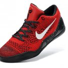 Nike Kobe 9 Elite Low Red White Mens Basketball Shoes Sale