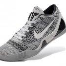 653456 101 Nike Kobe IX 9 Elite Low Beethoven White Black Wolf Grey shoes