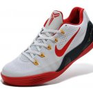 Authentic Nike 646701-101 Kobe 9 EM Low White Red Mens Basketball Shoes