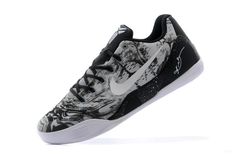 91a816ddd738 Cheap Nike 653972-800 Kobe 9 EM Low Camo Black White basketball shoes